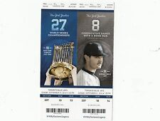 2014 NY YANKEES VS BLUE JAYS RANDOM YANKEE TICKET STUB 9/21 FRANCHISE 15,000 HR