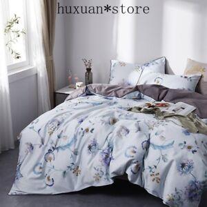 Satin Bedding Set 100% Egyptian Cotton Pastoral Princess Sheet Linen Duvet Cover