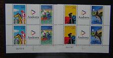 Andorra 1994 Tourist Activities in blocks x 4 (2 sets) MNH
