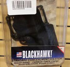 BH Concealment Holster-415004BK-R, Black,Carbon Fiber, Paddle, RH