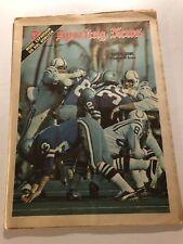 1971 Sporting News BALTIMORE COLTS vs DALLAS Cowboys SUPER BOWL V No Label FREE