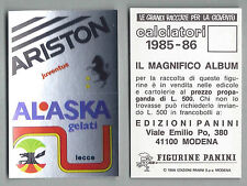 SPONSOR CALCIATORI PANINI 1985/86 - NUOVA/NEW N.121 JUVENTUS/LECCE
