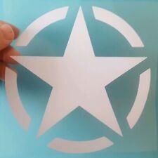 US American Army Star military CAR WINDOW - vinyl decal sticker 148MM X 148MM WH