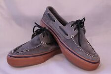 Sperry Top-Sider Boat Shoes Mens Size 9M Gray Suede