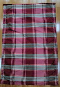 """ROMAN SHADE PLAID LINED 34"""" WIDE X 48"""" LONG NEW"""