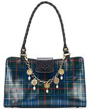 Patricia Nash Tartan Rienzo Satchel Leather Blue/green Tartan/gold P357292