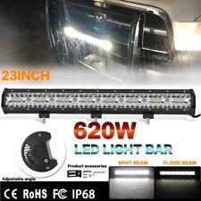 5D 23Inch 620000LM 620W OSRAM LED Bar Combo Beam LED Car SUV Work Light Off road