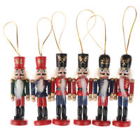 1Pcs 10cm Wooden Nutcracker Soldier Christmas Decoration Pendants Ornaments NWZH