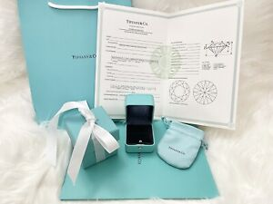 Tiffany & Co Engagement Ring Box + Outer Box + Pouch + Certificate + Folder +Bag