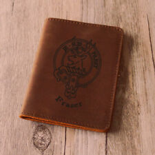 Fraser Clan Leather Passport Cover - Scottish Wallet Genuine- Hand made