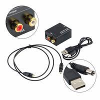 Adattatore convertitore audio digitale ottico toslink a analogico stereo RCA KVC