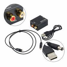 Adattatore convertitore audio digitale ottico toslink a analogico stereo 2x RCA