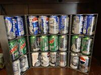 STAR WARS Episode 1 - Exclusive Pepsi / Mt Dew 24 Can Set w/ Display Case  10338