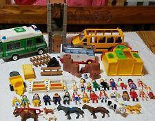 Huge Lot Playmobil Misc People Playsets & Accessories furniture police bus van