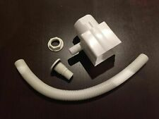 WHITE RAINWATER WATER BUTT DIVERTER KIT FITS SQUARE AND ROUND PIPE