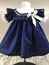 Hannahs Boutique 12 - 18 mois bébé fille bleu marine volants doublé Robe de Noël
