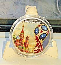 World Cup Russia 2018 Silver Coin Kremlin Faux Diamond Eagle Emblem Logo Ronaldo