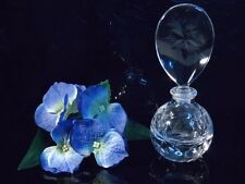 Floral Crystal Perfume glass bottle Collector