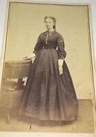 Rare Antique American Civil War Fashion Era Beautiful Young Lady CDV Photo! US!