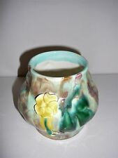 Vintage Braemore Pottery Vase with yellow flower Australian Collectable