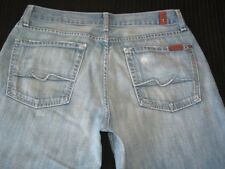 7 For all Mankind Mens Relaxed Jeans Sz 31 X 28 Light Weight Cotton Distressed