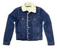 Levis Women's Original Sherpa Trucker Jacket In Light Indigo Blue