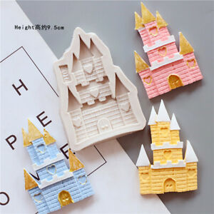Castle Fairy Tale House Silicone Fondant Mould Cake Decor Baking Chocolate Mold