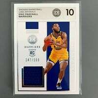 2019-20 Panini Encased Label Materials Eric Paschall Rookie Jersey Relic /199 RC
