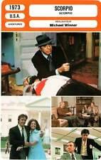 FICHE CINEMA : SCORPIO - Lancaster,Delon,Winner 1973