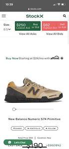New Balance 574 Primitive 8.5 Brand New