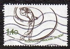 TIMBRES 1980 FEDERATION DU GOLF OBLITÉRÉ
