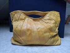 Yellow real leather medium  handbag bag SMITH & CANOVA
