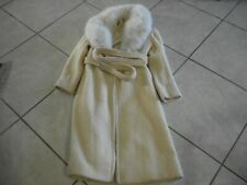 Vintage Rubel Original Full Lenght  Collar Fur And Wool Coat