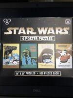 Star Wars 4 Poster Puzzles Disneyland Walt Disney World Merchandise NEW & Sealed