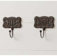His and Hers Cast Iron Hooks