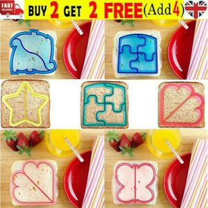 Kids DIY Lunch Sandwich Toast Mould Cookies Mold Cake Bread Food Cutter Tools !
