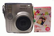Fuji Instax Mini 10 Camera with Candy Pop Film - Silver Camera