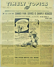 Chicago North Western Line Rare May 1943 Newspaper Timely Topics C&NW Railroad