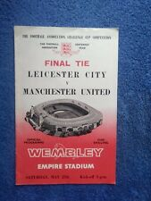 More details for 1963 fa cup final leicester city v manchester united programme freepost