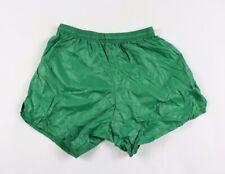 Vtg 80s Score Mens Small Shiny Nylon Athletic Running Soccer Shorts Green USA