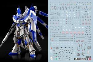 Gundam UC water slide decal SIMP sticker C57 RG Hi-v Hi-Nu Gundam Amuro