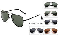 Polarized Kids Aviator Sunglasses Stainless Steel Frame Boys Girls Spring Hinge
