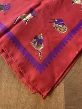 """Red Hat Society Cats In Hats Bandana Handkerchief Scarf  20"""" X 20"""""""