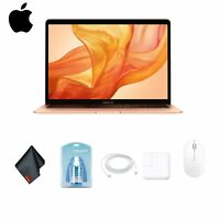 "Apple 13.3"" Gold MacBook Air Laptop with Retina Display Deluxe Combo"