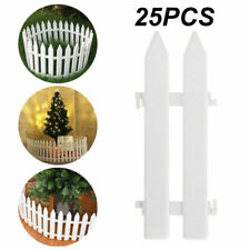 25Pcs Picket Fence Garden Fencing Lawn Edging Home Yard Christmas Tree Fence Set