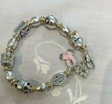 Brighton Power of Pink Ribbon Breast Cancer 2008 Silver Bracelet EUC