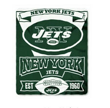 Northwest NFL Marque Printed Fleece Throw 50 inch x 60 inch - New York Jets