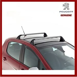 Genuine Peugeot 308 Hatchback Lockable Roof Bars. New 9616W2