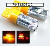 7443 T20  LED Indicators SUPER BRIGHT Amber 30W CREETurn Signal Light Bulbs
