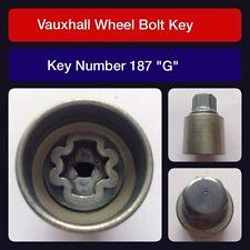 "Genuine Vauxhall Locking Wheel Bolt / Nut Key 187 ""G"""